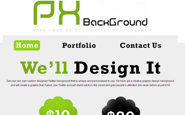 px pixel design background studio website layout