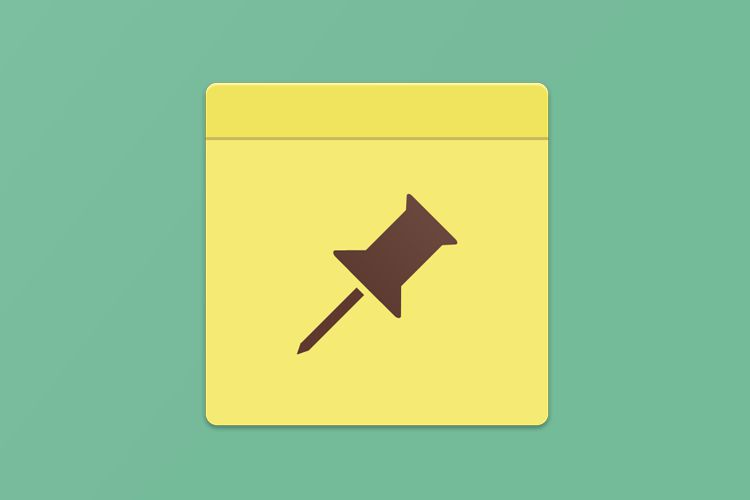 flat notepad yellow app icon design