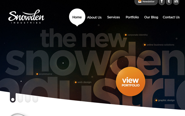 snowden industries website layout interface inspiration