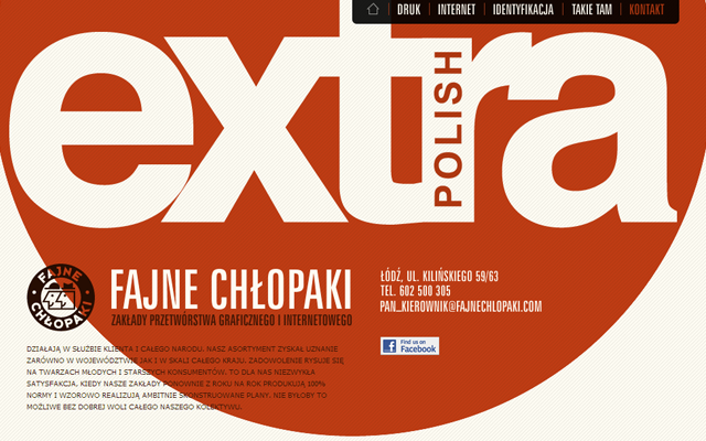 Fajne Chłopaki portfolio design interface website layout
