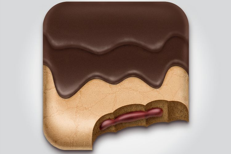 simple chocolate pastry ios app icon design
