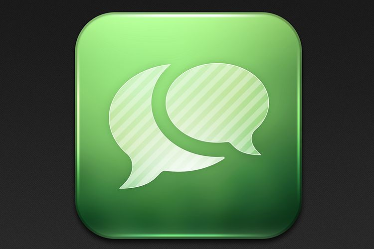 ios app messages green icon mobile