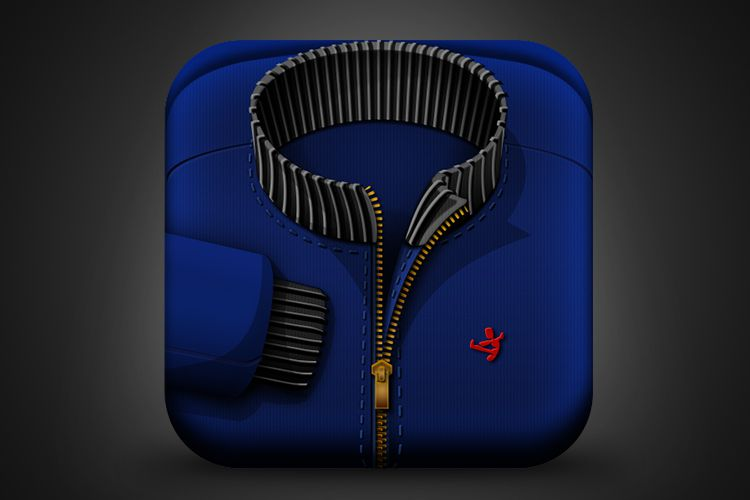 blue jacket mobile ios app icon