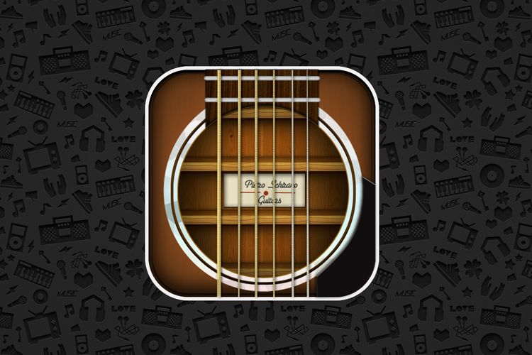 musical guitar strings ios app icon