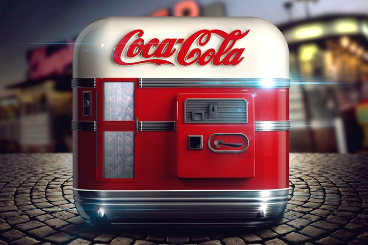 cocacola coke soda machine ios app icon