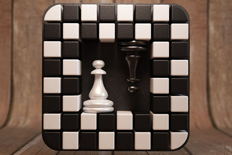 chess logic game app ios mobile icon design