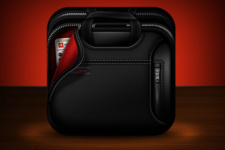 black laptop bag ios app icon iphone smartphone