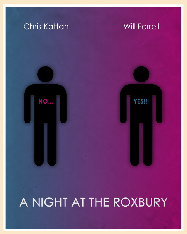 A Night at the Roxbury movie posters remade by fans for design