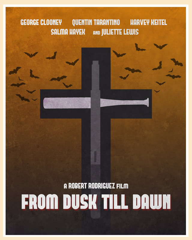 From Dusk Till Dawn movie posters remade by fans for design
