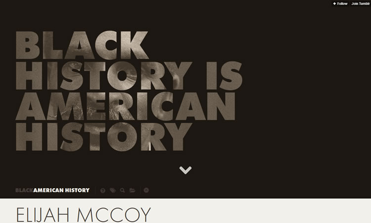 Black In History content heavy web design Inspiration