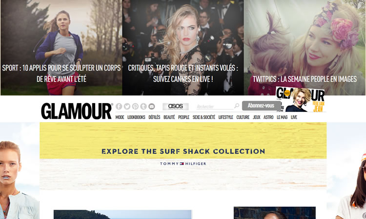 content heavy websites Glamour Inspiration