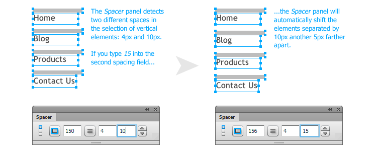 The Spacer Panel Free Adobe Fireworks Extension