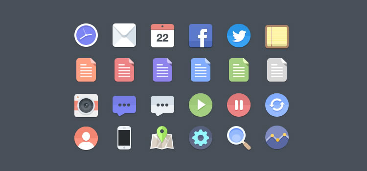 Flat Icon Set Best Free Icon Sets