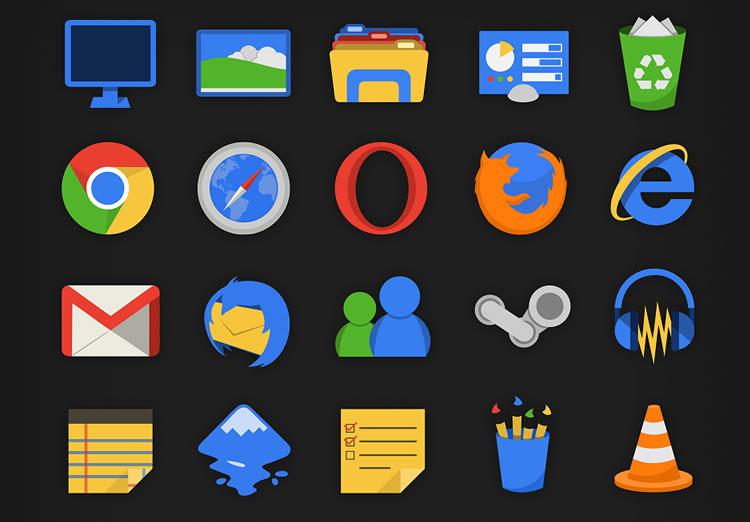 Plex free Flat Icon Set