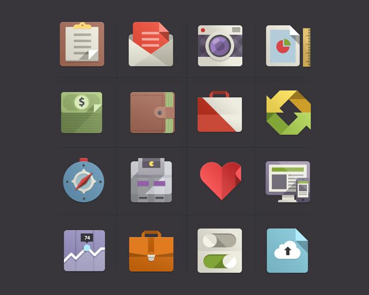 Flat Design Icons Set Vol2 free Flat Icon Set