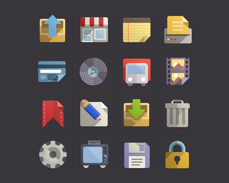 Flat Design Icons Set Vol3 free Flat Icon Set