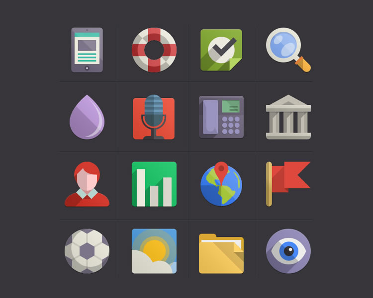 Flat Design Icons Set Vol4 free Flat Icon Set