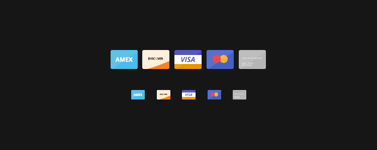 Flat Credit Card Icons free Flat Icon Set