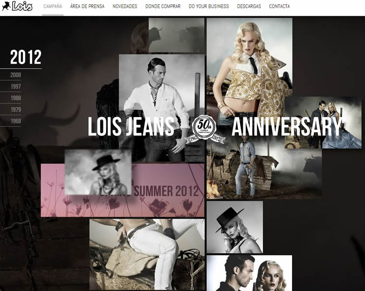 Lois Jeans is an inspiring HTML5 Website