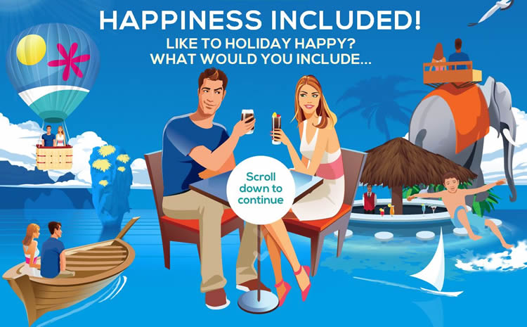 Happiness Included is an inspiring HTML5 Website