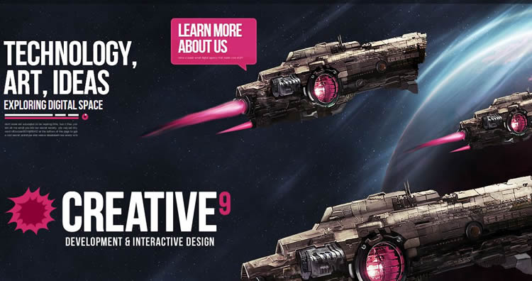 Creative9 is an inspiring HTML5 Website