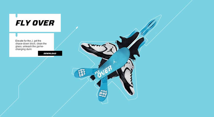 Nike Jumpman is an inspiring HTML5 Website