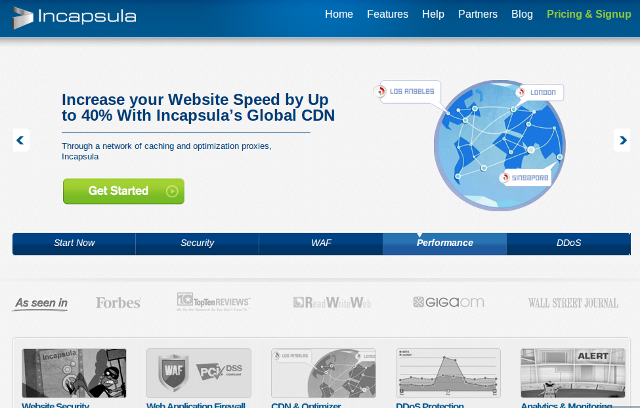 fast website Incapsula tool app