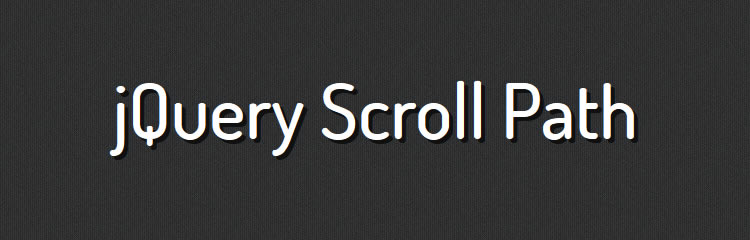 jQuery Scroll Path define custom scroll path