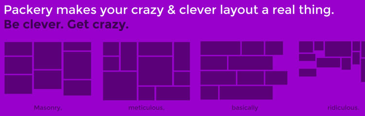 Packery layouts intelligently ordered organically wild dynamic Layout jQuery Plugins