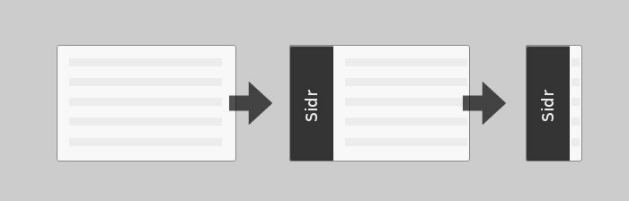 Sidr is an easy to use plugin that will create a responsive Facebook-a-like side menu