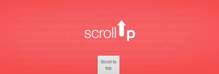 ScrollUp creates a customisable Scroll to top feature