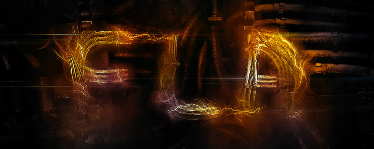 In this tutorial you will be shown the steps to recreate this Electrified Metal Text Effect