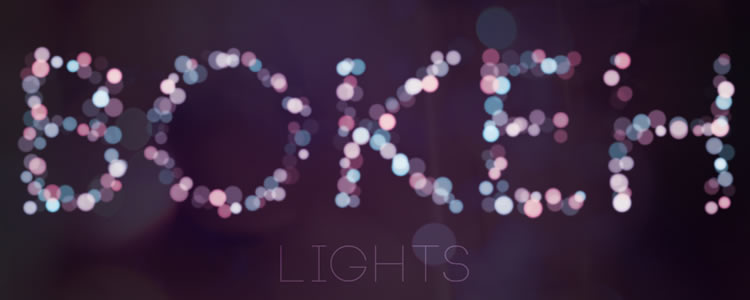 This tutorial shows you an easy method for create a beautiful bokeh text effect