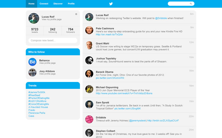 Twitter Redesign - Web Redesign Concept
