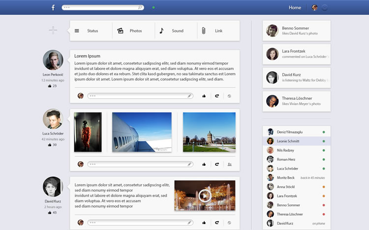Facebook - Web Redesign Concept