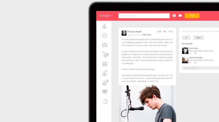 Google+ - Web Redesign Concept