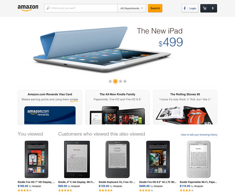 Amazon - Web Redesign Concept