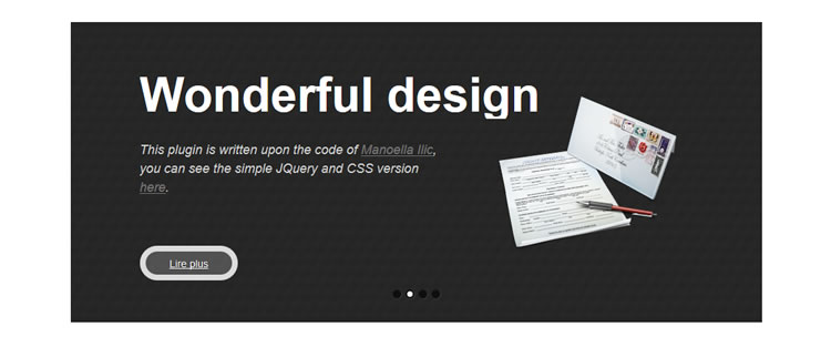 WP Parallax Content Slider Plugin highly customizable WordPress plugin features CSS3 animations
