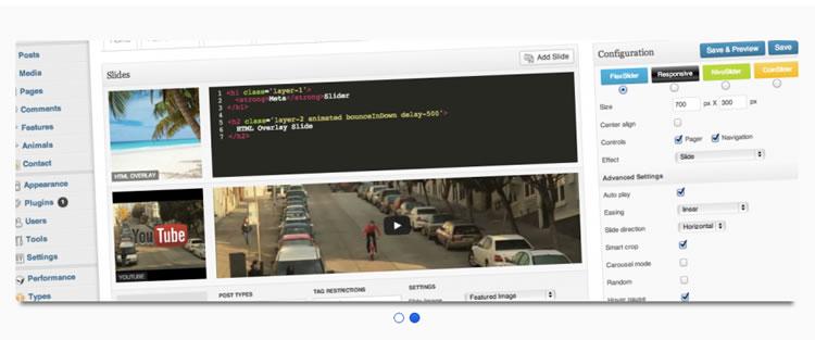 Meta Slider four jQuery sliders Nivo Slider Coin Slider Flex Slider Responsive Slides