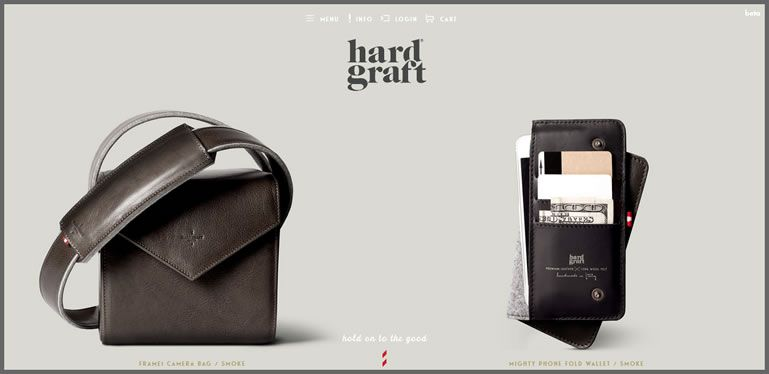 The Hard Graft website example of Ecommerce Sites design