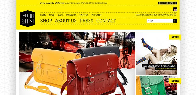 The Lemon & Mint website example of Ecommerce Sites design