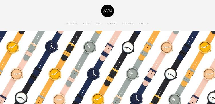 The AÃRK Collective website example of Ecommerce web design