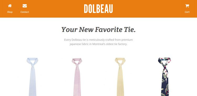 The Dolbeau website example of Ecommerce web design