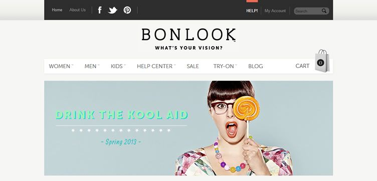 The BonLook website example of Ecommerce Sites design