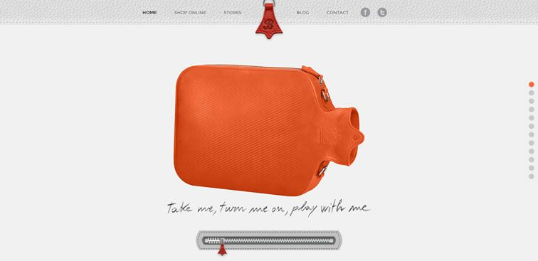 The Discover Bagigia website example of Ecommerce web design