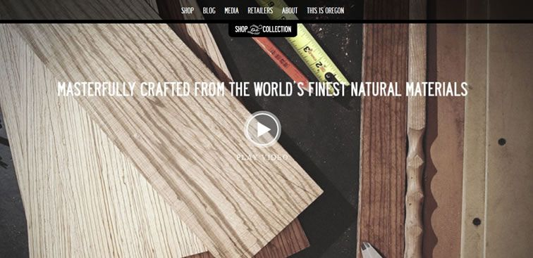 The Shwood website example of Ecommerce Sites design