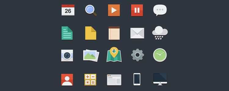Free Flat Icon Set - EPS & PSD