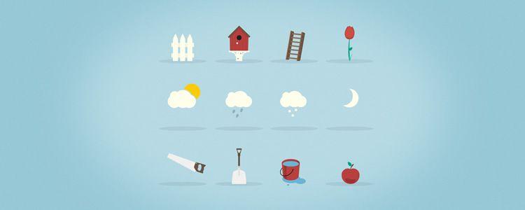 Garden Icons - PSD
