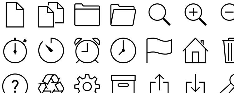 iOS 7 Icons in Vector - SVG, EPS & PNG
