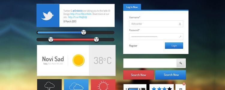 Web & App UI Kit - PSD